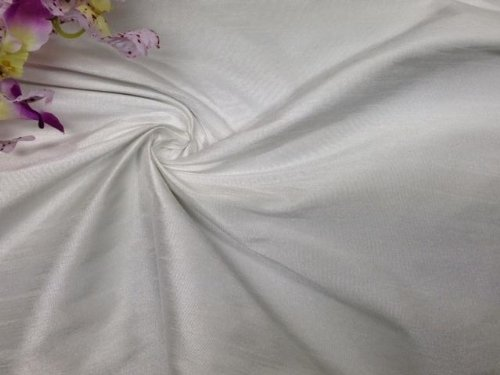 - 1 Yard, 100% Poly Dupioni Faux Silk Fabric,Good for Table Cloth, Dresses, etc, Ivory, 60