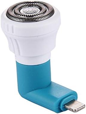 Para iphone azul afeitadora eléctrica portátil de de mini Teléfono ...