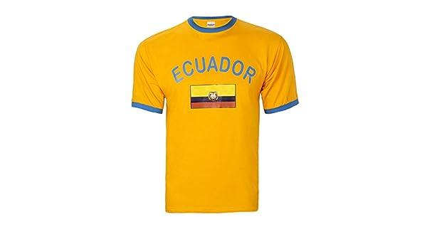 Brubaker hombres o mujeres Ecuador Fan T-Shirt amarillo talla S - XXXL: Amazon.es: Deportes y aire libre