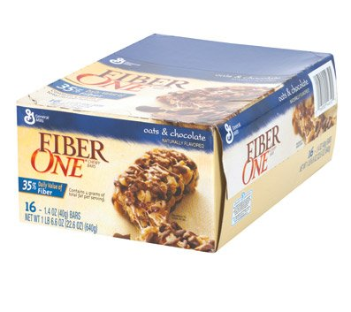 Fiber One Oats and Chocolate Chewy Bars 128 count / 1.4 ounce bars (Fiber Oats One)