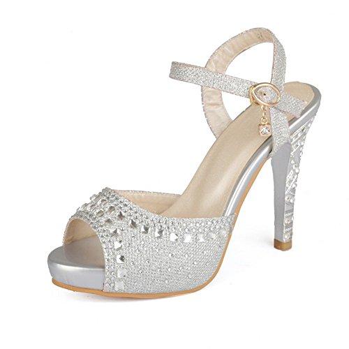 Buckle 7 1to9 Silver 5 Vogue Sandali Materiale m In Morbido Girls Us B nt8H8rwqxE
