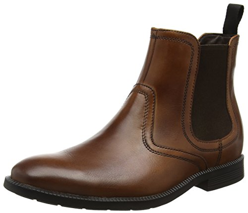 Rockport Dressports Modern, Botines para Hombre Marrón - Brown (New Brown Leather)