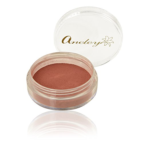 Crushed mineral blush powder vegan non comedogenic talc free Formulated Highly pigmented long lasting luminous cheek color fits all skin types (Flirt) 5 Gm