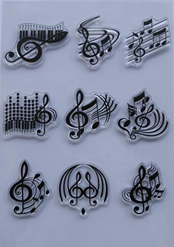 MaGuo Music Note Clear Stamps for DIY Paper Craft Card Making Decoration or Scrapbooking