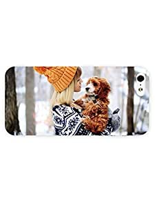 3d Full Wrap Case for iPhone 5/5s Animal Cute Puppy In Arms