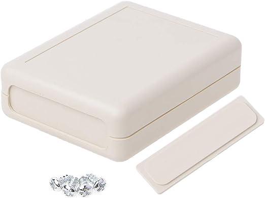 JOYKK Caja de Instrumentos Impermeable Caja de plástico Gris Proyecto electrónico - Gris: Amazon.es: Hogar