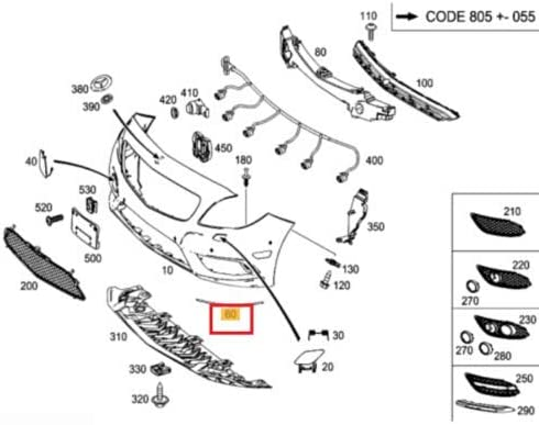 Nuovo originale B W246 paraurti anteriore destro cromato modanatura Trim A2468850521 OEM