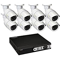 Q see 16 Channel HD Digital Security System with 8 3MP HD IP Bullet Cameras QT8516-8Z7-2