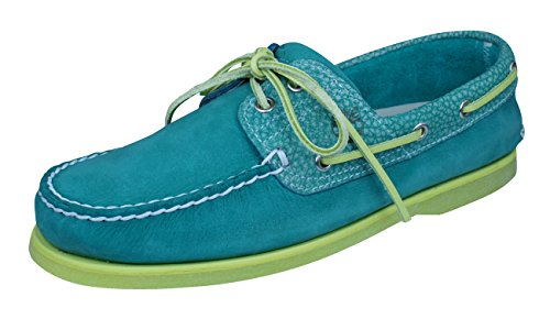 Timberland Men's Icon 2-Eye Boat Shoe,Bosphorus Green Nubuck/Green,US 8 W by Timberland