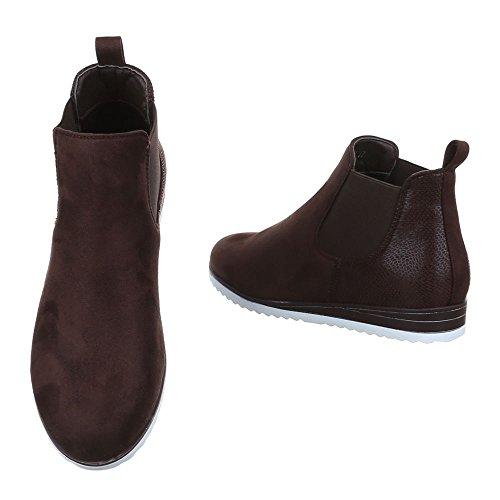 Ital-Design - Botas plisadas Mujer marrón