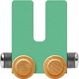product image for Maple Landmark NameTrain Pastel Letter Car U - Made in USA (Green)