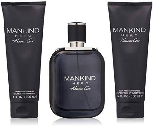 Kenneth Cole 3 Piece Mankind Hero Gift Set, 3.4 Oz.