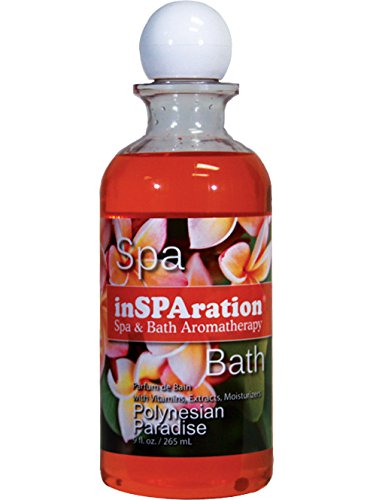 inSPAration Spa and Bath Aromatherapy 123X Spa Liquid, 9-Ounce, Polynesian Paradise