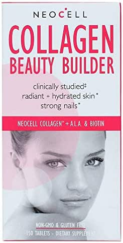 NeoCell Collagen Beauty Builder, for Radiant Skin, Healthy Hair & Nails  150 Tablets (Packaging May Vary)