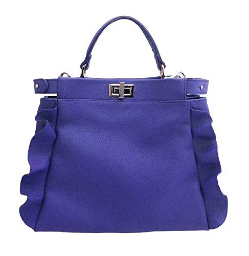Auténtica Mujer De Piel Azul Superflybags Para M Asas Bolso AISnxqY