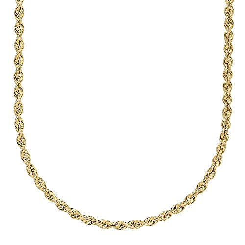 Certified Jewelry 14K Gold Filled Yellow Gold Rope Chain Available in 18