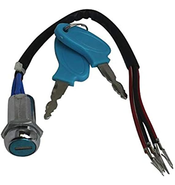 Amazon Com Scooterx 4 Wire Ignition Switch Key Fits Many Gas And Electric Scooters Go Karts Pocket Bikes And More 1103 Sports Outdoors
