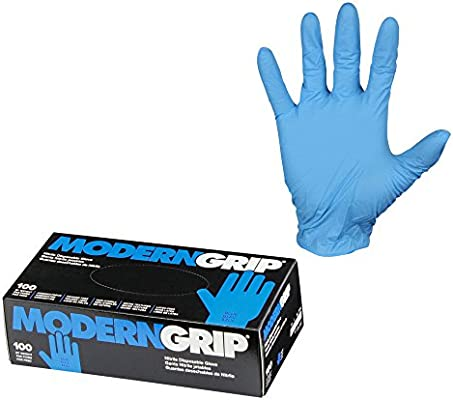 Latex Free Powder Free 100 count Industrial and Household Micro Textured for Superior Grip Modern Grip 16103-L Nitrile 6 mil Thickness Premium Disposable Gloves Blue Large
