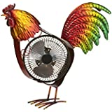 Deco Breeze DBF6165 Portable Collection Rooster USB Fan