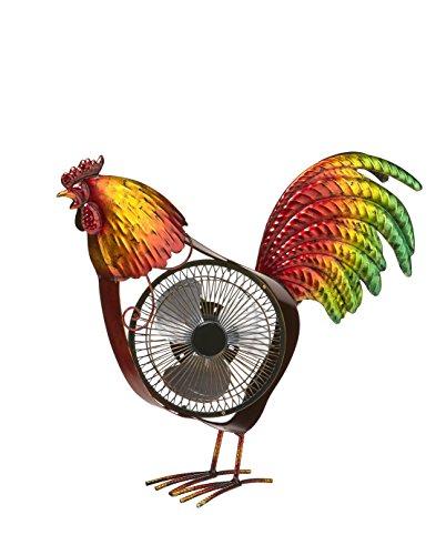 Rooster Decorative Fan - Deco Breeze DBF6165 DecoBREEZE Portable Table Fan USB Fan, 6