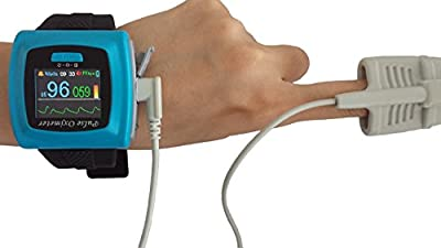 Wrist-worn Pulse Oximeter with Software and Download Cable