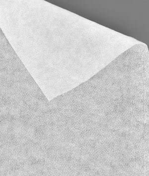 White Medium Weight Fusible Interfacing Fabric by the Yard