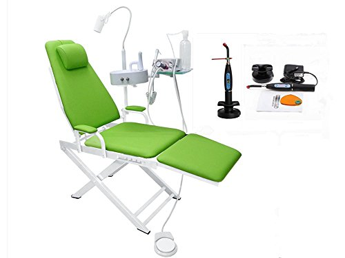(SoHome Green Medical Portable Dental Folding Chair with Metal Unit 4 Holes+5W Big Power LED)