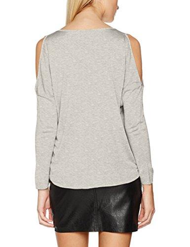 Only, Suéter para Mujer Gris (Light Grey Melange Light Grey Melange)