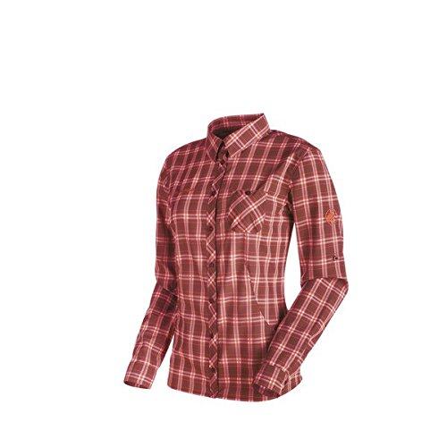 Mammut Alessandria Longsleeve Shirt Women - Maroon/Barberry