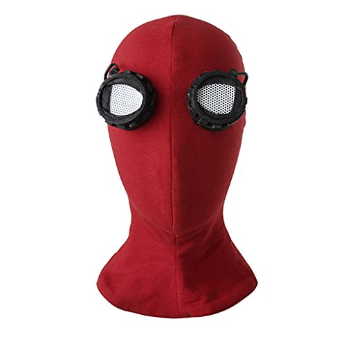 Mens Spiderman Costumes Mask (CosplayDiy Men's Suit For Spider-Man:Homecoming Cosplay Costume Mask)