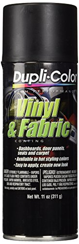 Dupli-Color EHVP10600 Flat Black High Performance Vinyl and Fabric Spray - 11 oz. - Black Plastic Dash