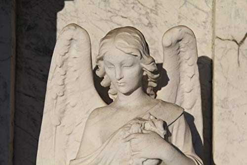 Home Comforts Laminated Poster Funerary Art Angel Guardian Angel Cemetery Statue Vivid Imagery Poster Print 11 x 17