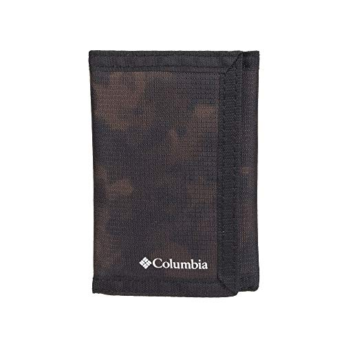 Columbia Tactical Wallets for Men - Sport RFID Blocking Nylon Trifold with Velcro with ID Window and Cash Pockets, Brown camo, One sizee