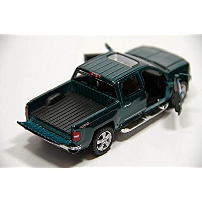 KiNSMART 2014 Chevy Silverado Pick-up Truck, Green 5381D - 1/46 Scale Diecast Model Toy Car: Toys & Games