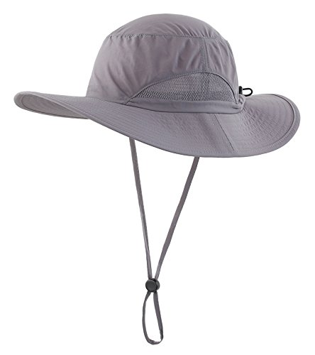 Cotton Chin Cord (Home Prefer Outdoor Sun Cap Fishing Hat Camouflage Bucket Mesh Boonie Hat Snap Chin Cord Hat Dark Gray)