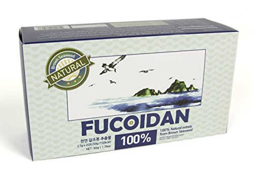Seaweed Brown Natural (Natural Brown Seaweed extract supplements SEAHERB Fucoidan USFDA passed 20Satchets/50g box (Pill Type))