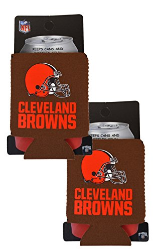 (Official National Football League Fan Shop Authentic 2-Pack NFL Insulated 12 Oz Can Cooler (Cleveland Browns))