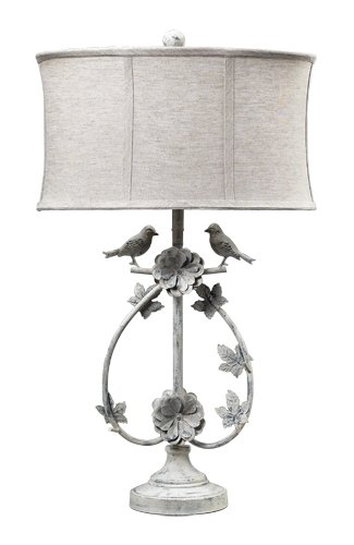 Dimond 113 1134 linen shade french country two birds iron table dimond 113 1134 linen shade french country two birds iron table lamp mozeypictures