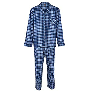 Hanes Men's 100% Cotton Flannel Plaid Pajama Top and Pant Set