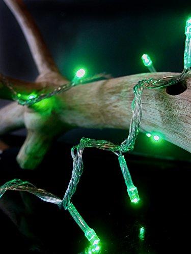 Fantado 100 Indoor/Dry Outdoor Green LED Mini String Ligh...
