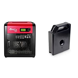 XYZprinting da Vinci 1.0 Pro 3 in 1 (3D Printer/ 3D Scanner/ Laser Engraver- Optional Add-On) and RF10XXUSZZC ABS Plastic Filament Cartridge, 1.75 mm Diameter, 600 g, Snow White bundle