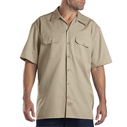 Sleeve Work Shirt (2 Pack - Large, Khaki) ()