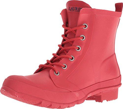Lauren Ralph Lauren Mikenna Short Lace Up Rain Boots, Red, 5 US / 36 EU