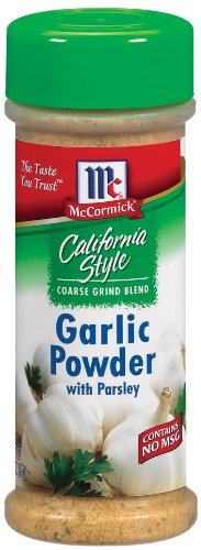 McCormick California Style Coarse Ground Blend Garlic Powder with Parsley, 3-Ounce Units (Pack of 12)
