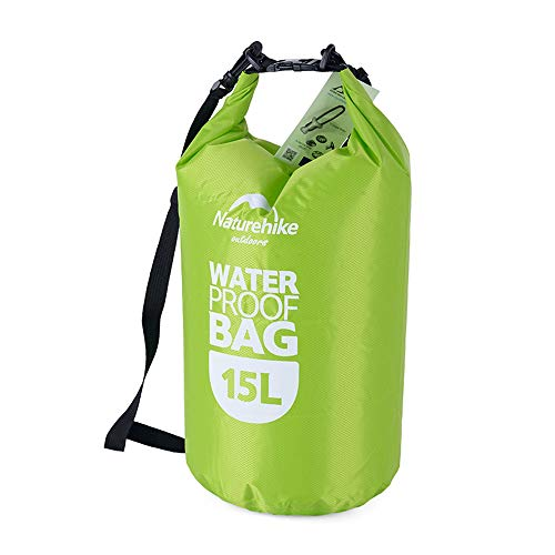 15l Manual - ieGeek Waterproof Dry Bag, Roll Top Dry Compression Sack Lightweight Storage Bag Travel Compression Bag for Rafting/Kayaking/Fishing/Swimming/Beach/Boating/Hiking/Camping - 15L (Green)