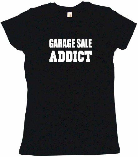 Garage Sale Addict Women's Babydoll Tee Shirt XL-Black