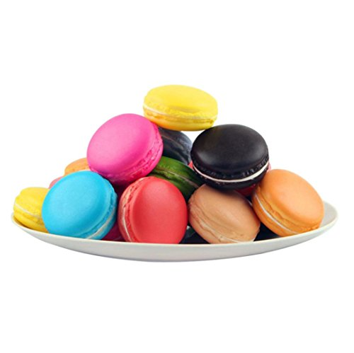 Macaron PU Decompression Toy, Balakie Simulation Macaron Food Squishy Super Slow Rising Kid Toys