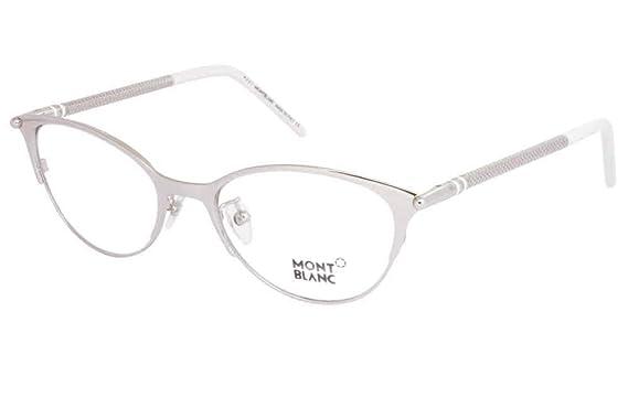 19396afc6feb Mont Blanc Women s MB0438 016 Palladium Grey Cateye 52mm Eyeglasses ...