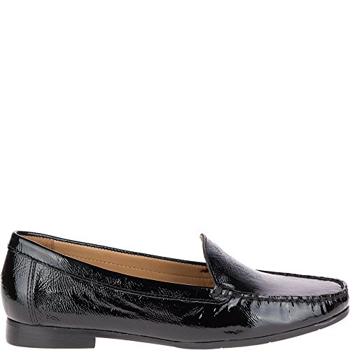 Hush Puppies Women's Yorktese Slipon Moccasin, Black Patent, 7.5 M US