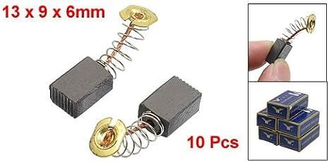 Kuinayouyi 5 pares de CB408 13 x 9 x 6 mm escobillas de carbon de potencia de la herramienta para